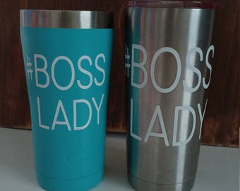 Boss lady decal, hashtag decal, custom decal, custom made