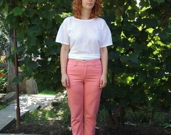 SALE 80's vintage women's coral pants