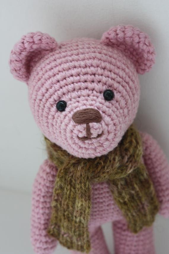 Crochet Amigurumi Teddy Bear PATTERN Amigurumi Animal PDF