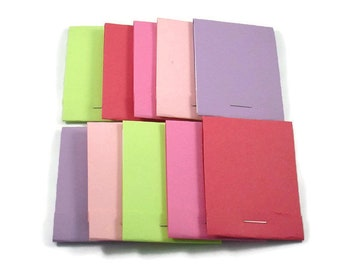 20 Matchbook Notepads   Match Books Mini Note Pads in Butterfly Wings