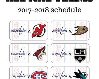 2017-2018 Hockey Planner Stickers