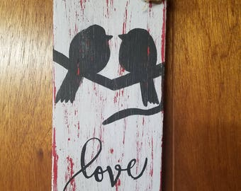 Bird Love Sign