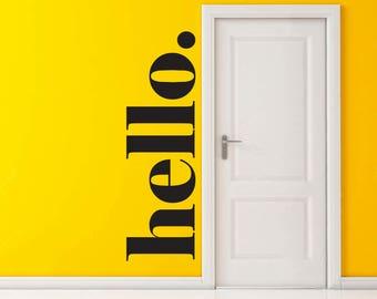 Hello 2 Vinyl Decal