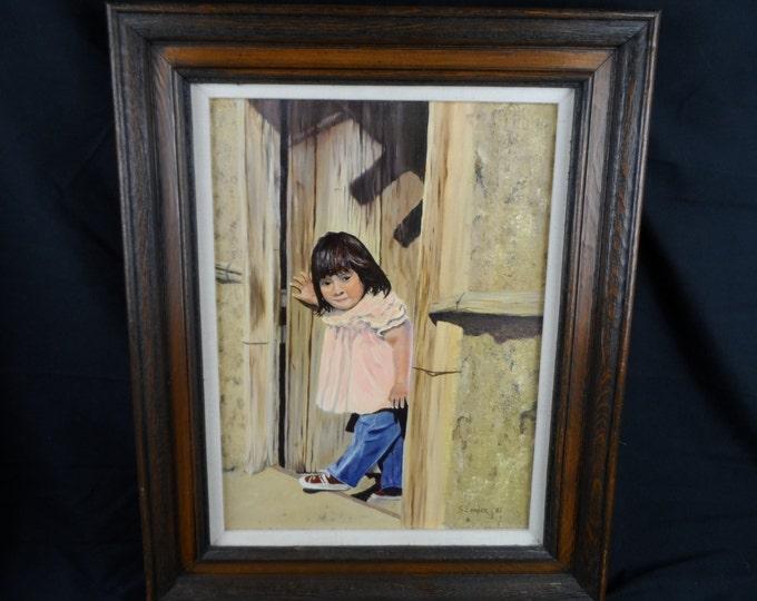 Fine Art Oil Painting on Canvas, Original, Signed, Child, Realism, Southwestern