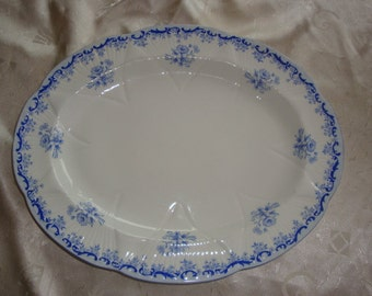 "Shelley HEAVENLY BLUE 13"" Oval Serving Platter"