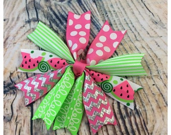 "4"" Scrap Spiked Hair Bow"