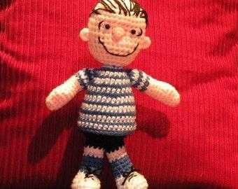 PDF - Linus from Peanuts - amigurumi doll crochet pattern
