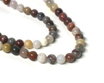 6mm bamboo agate beads, round natural gemstone bead, full & half strands available (499S)