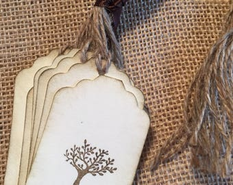 Wedding Tree Tag | wedding wish tags | nature gift tags | tree tags | tree party favor tags | outdoor party tags | natural decor | gift tags