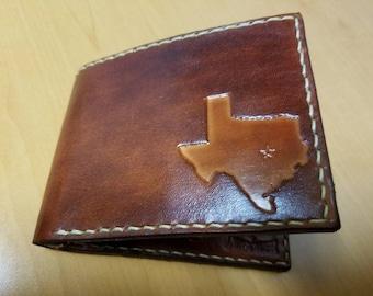 Custom Leather Bi fold Wallet.