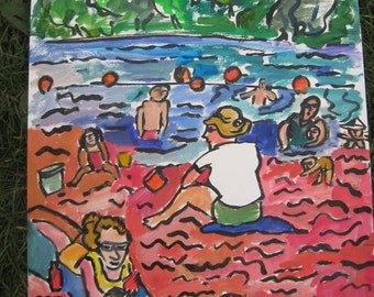 HOT sand, COLD water July 16, 2010. Lake Nokomis, MInneapolis, Minnesota.