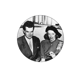 """Jack Parsons and Marjorie Cameron power couple custom 1.25"""" pin"""