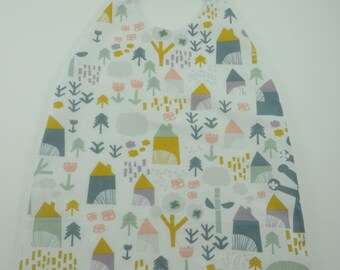Towel canteen with elastic, cabin forest pattern napkin