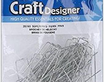 Lot of 6 Darice Craft Designer Fern Pins 50pcs/pkg