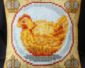 Hen inspired by Fabergé Pincushion cross stitch kit