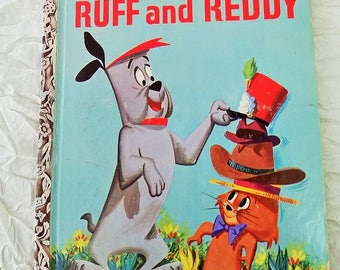 Ruff and Reddy // 1959 Little Golden Book // marked A - first edition