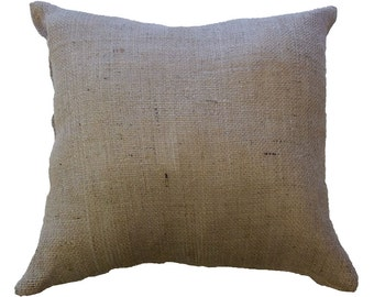"18"" x 18"" Burlap Cushion (x2)"