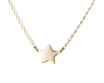Gold star necklace, Delicate adjustable necklace, Gold necklace, Simple gold necklace, Bridesmaid gift