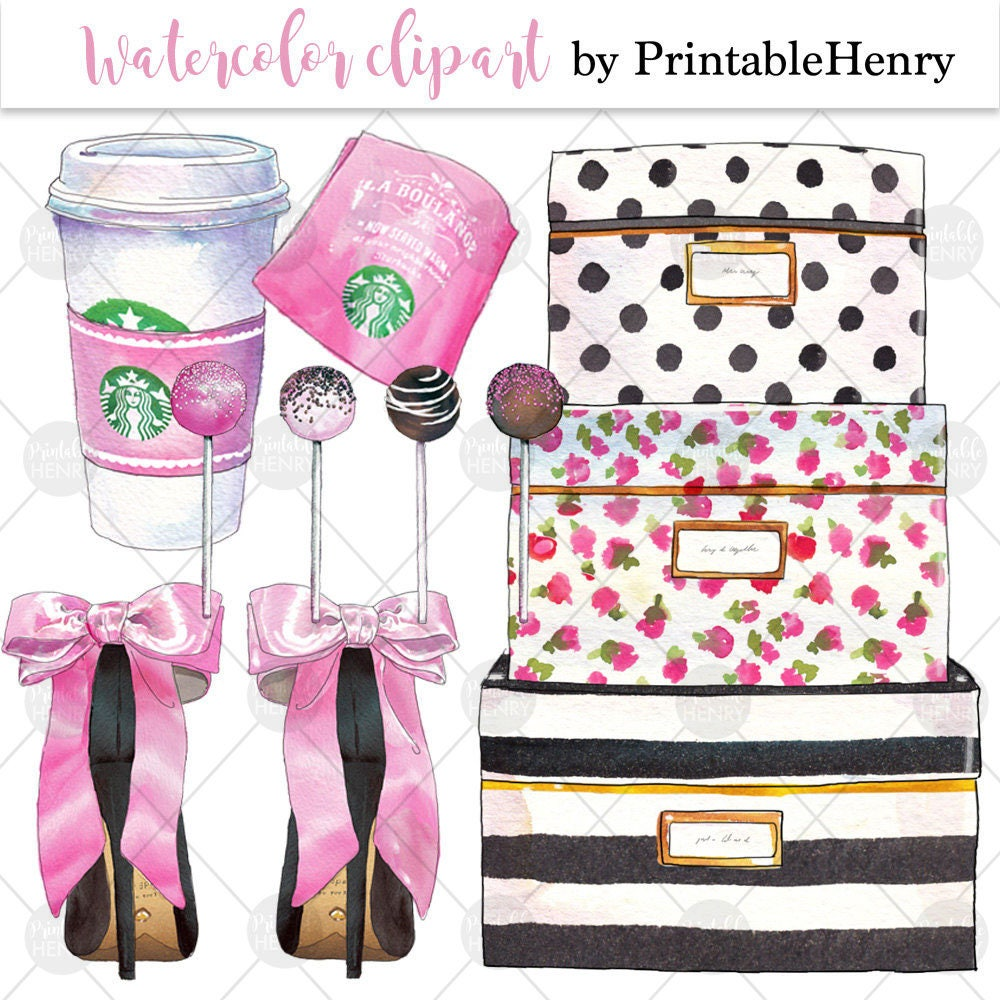 Kate Spade Glam Clipart Fashion Graphics Girly Graphics