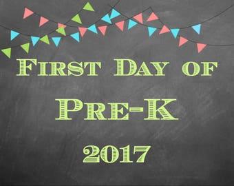 First Day of School Prints - Digital Download Pre-K thru 12th Grade