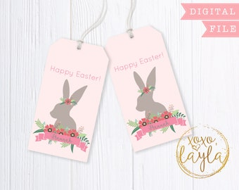 Easter tags easter tags printable easter tag pdf easter easter tags easter tags printable easter tag pdf easter gift bag tag negle Images