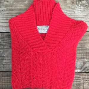 Vintage Red Pendleton Wool Sweater- Small/Medium
