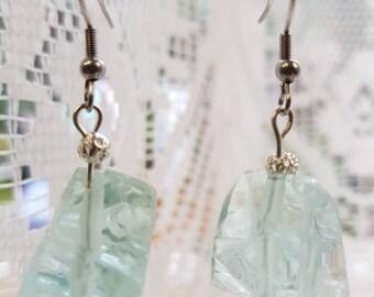 Ice cube earrings