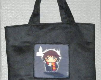 Tote bag in suede