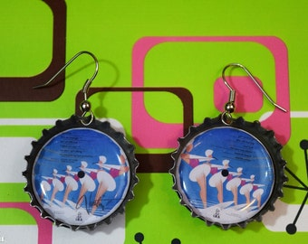 LP Record Earrings (The GoGo's - Vacation)