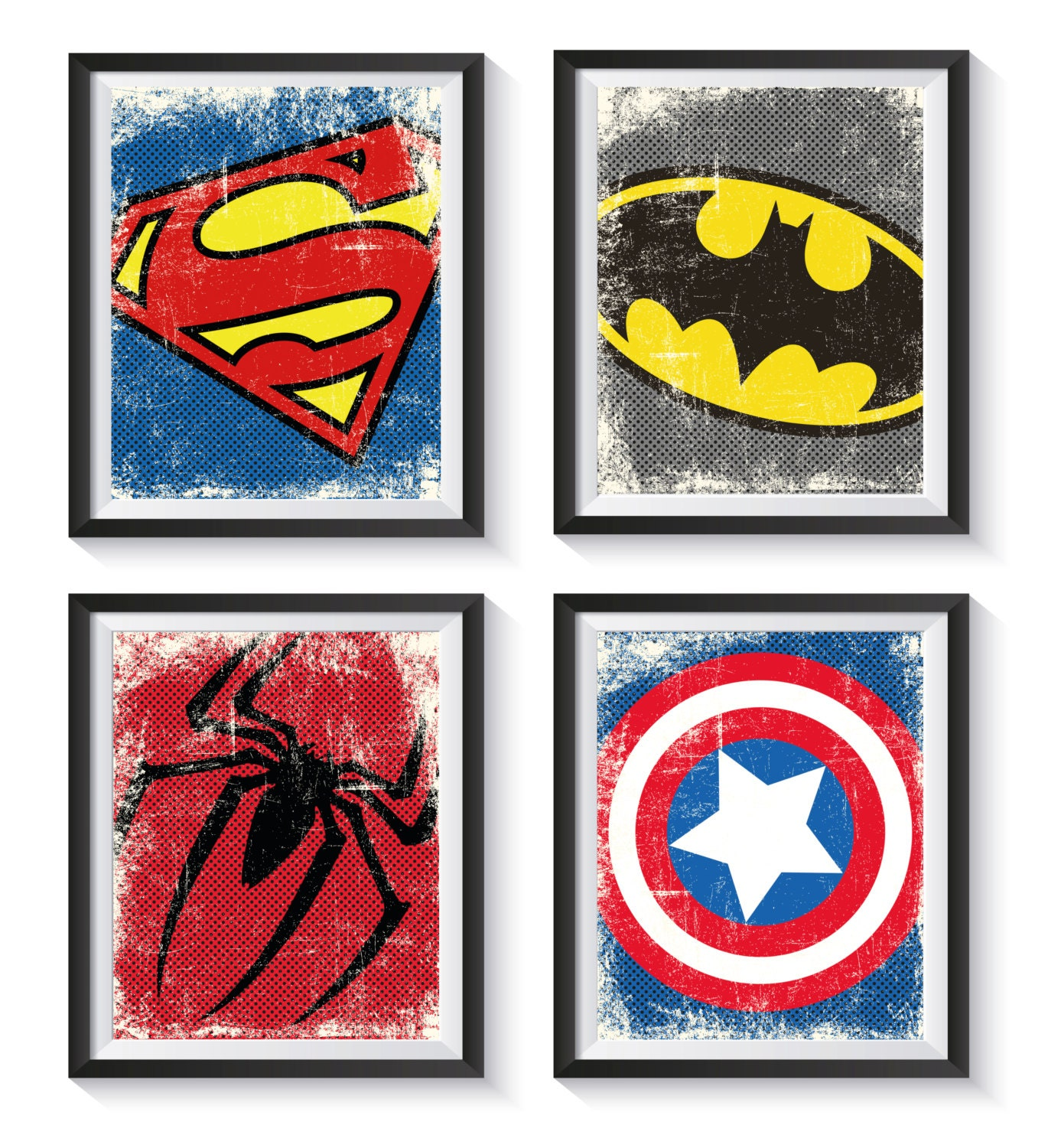 This is a photo of Unforgettable Superhero Logos Printable