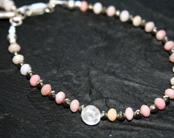 WINTON Opal, Moonstone, Pyrite and Sterling Earrings
