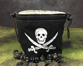 Jolly Roger Pirate Dice Bag