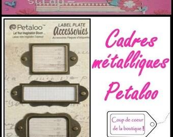 Set of 3 metal frames Petaloo scrapbooking embellishment *.