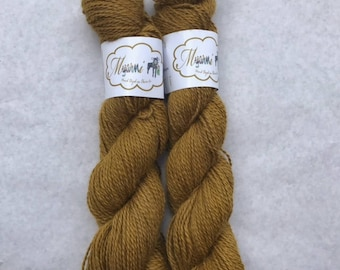 """Hand Dyed Pygora """"Golden Snitch"""""""