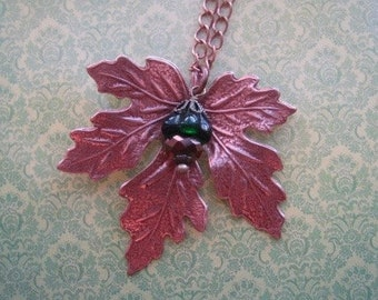 Maple Leaf Necklace - Leaf Jewelry - Leaf Pendant - Nature Jewelry - Copper Pendant - Fall Necklace - Nature Inspired - Fall Jewelry
