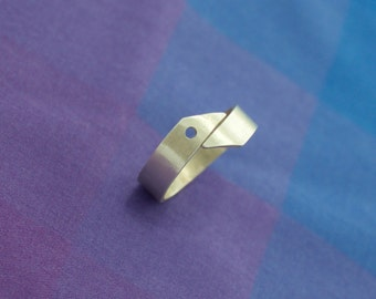 Simple Asymmetric Silver Ring