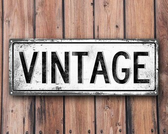 VINTAGE Metal Street Sign, Vintage, Retro    MEM2028