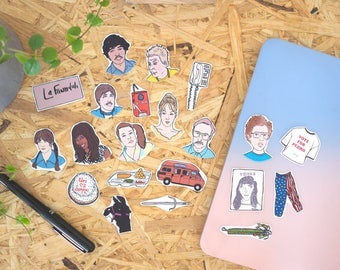 Napoleon Dynamite Stickers & Magnets, vinyl stickers, fridge magnets, vote for pedro, laptop stickers, planner stickers