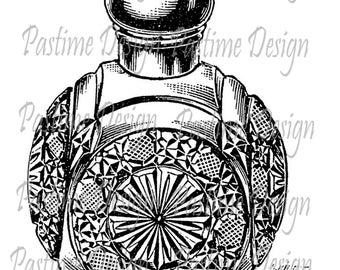 Vintage perfume bottle clip art,vintage perfume image,instant download,vintage perfume digital stamp,image transfer,cardmaking,scrapbooking