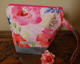 Pansies Knitting Project bag, small