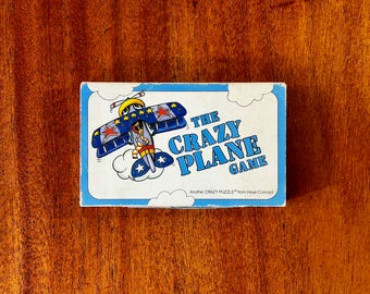A great vintage 1980s The Crazy Plane Game, puzzle by Heye Concept