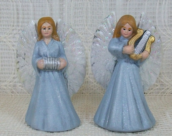 Ceramic Angel Figurines| Musical Angels |  Angel Gifts | Angels Playing Musical Instruments | Ceramic Angel Statues