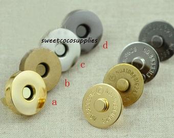 18mm  Magnetic Snap Closures.4 color , 20set