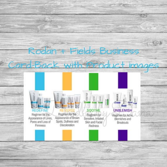Rodan fields business card back with product images colourmoves Image collections
