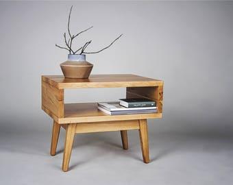 Massive oak coffee table