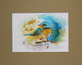 Bluebird Original Watercolor Painting