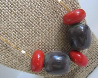 Treasure Trove Necklace -Vintage Lucite Beads
