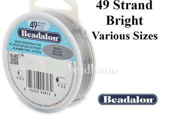 FREE SHIPPING - Beadalon 49 Strand BRIGHT Stainless Steel Wire ~ Maximum Flexibility & Strength