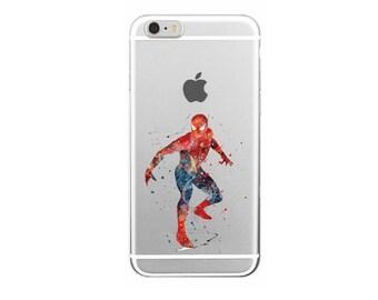 Spider Man Fictional superhero Comics Characters Marvel Kids Cartoon Soft Case iPhone 6 7 Plus 7 6 6S 5 5S SE Samsung S6 S7 edge A3 A5 2016