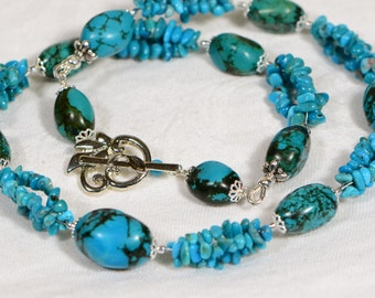 Beaded Necklace Turquoise Necklace Tibetan Necklace Statement Necklace Boho Necklace